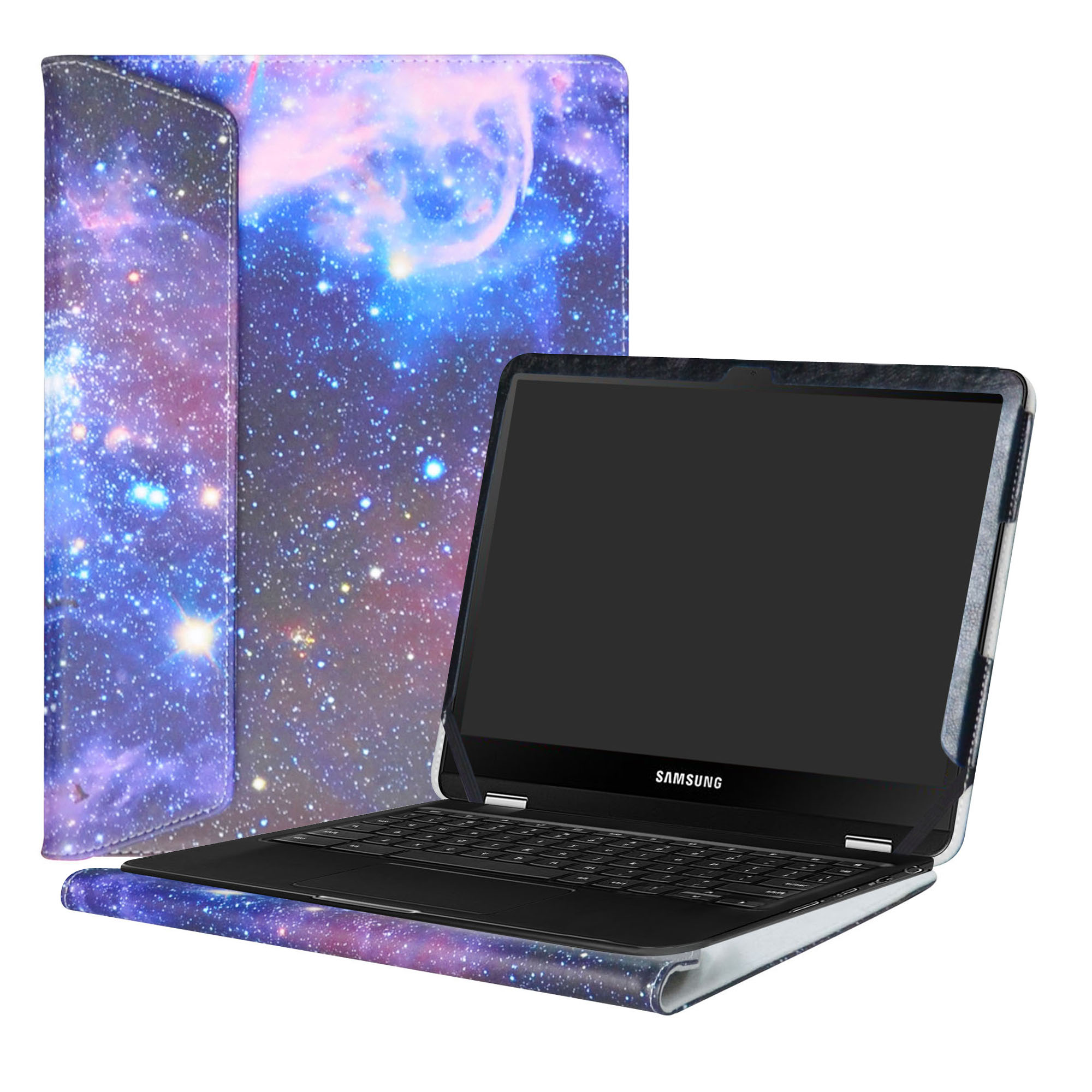 black protective hard shell case cover for 12.3 Samsung chromebook plus XE513C24